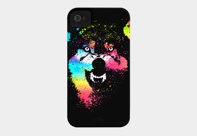 Technicolor Wolf Phone Case - Design By Humans