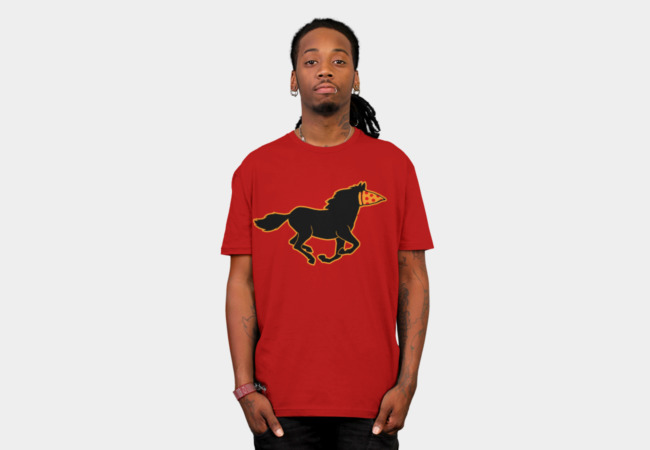 pizza horse T-Shirt - Design By Humans