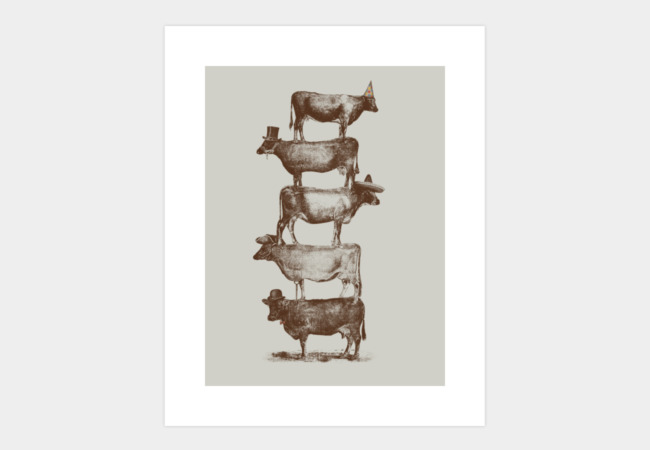 Cow Cow Nuts Art Print - Design By Humans