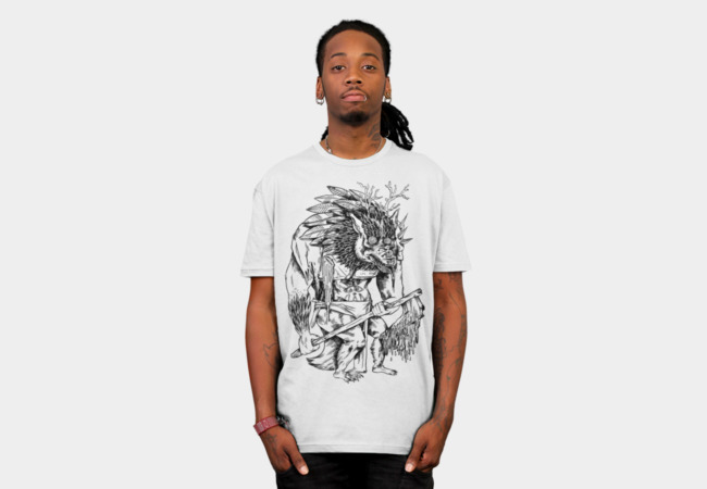 Forest-Beast Axe-Warrior T-Shirt - Design By Humans
