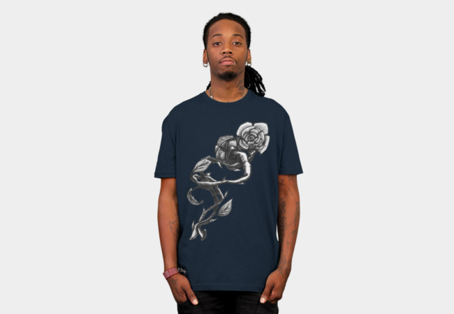 Twisted Nature Roses T-Shirt - Design By Humans