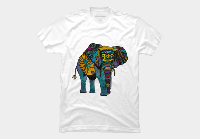 Elephant of Namibia Color Men's T-Shirt