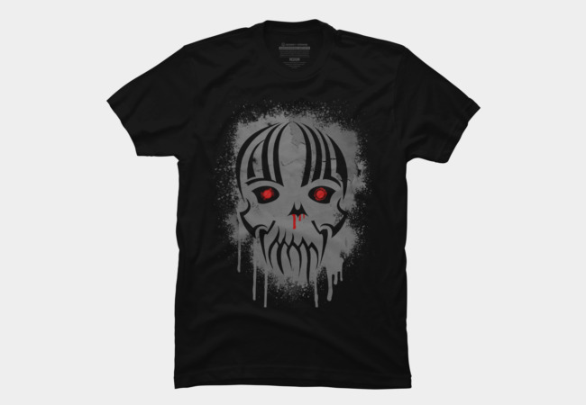 Bleeding Skull Paint Drips and Splatters Men's T-Shirt