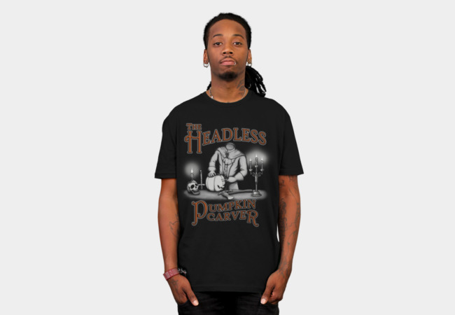 Headless Pumpkin Carver T-Shirt - Design By Humans