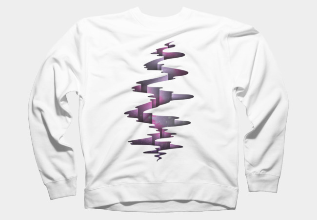 Tectonic wormhole Sweatshirt