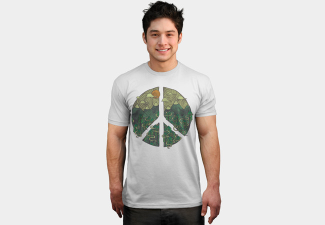 Peaceful Landscape T-Shirt - Design By Humans