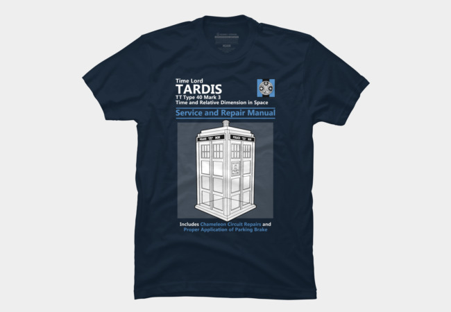 Tardis Service and Repair Manual Men's T-Shirt