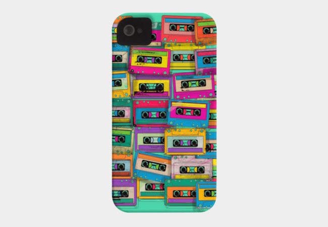 Retro Neon Music Phone Case - Design By Humans