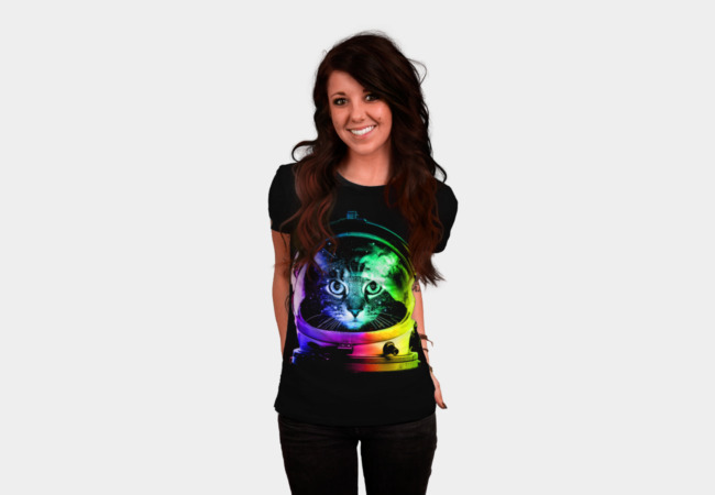 Astronaut Cat T-Shirt - Design By Humans