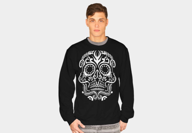 Day of the Dead Skull No3 Sweatshirt - Design By Humans