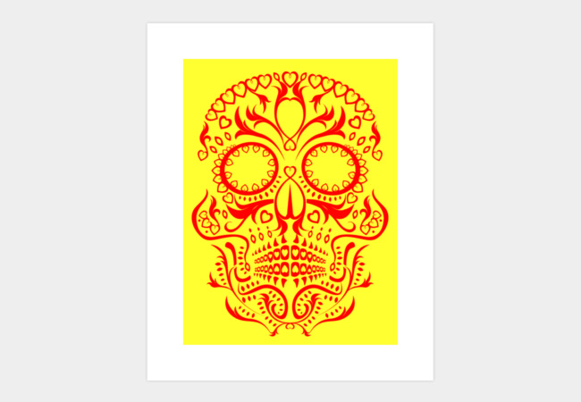 Day of the Dead Skull No.20 Art Print - Design By Humans