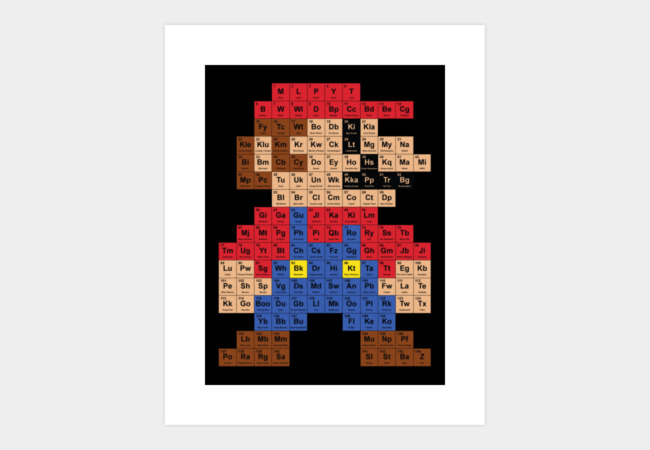 Periodic Mario Table Art Print - Design By Humans