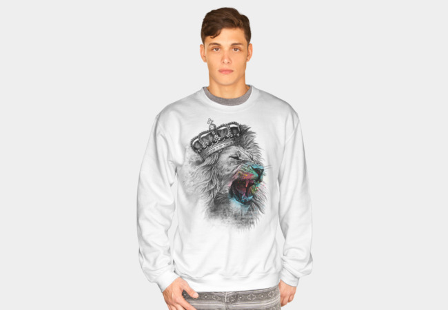 King Lion Sweatshirt - Design By Humans