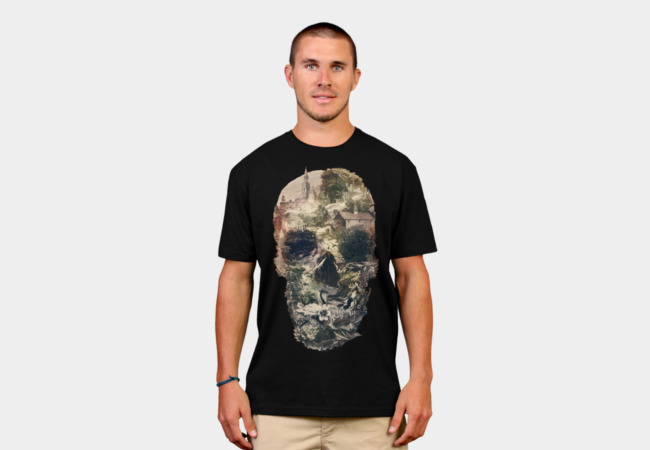 Town Skull T-Shirt - Design By Humans