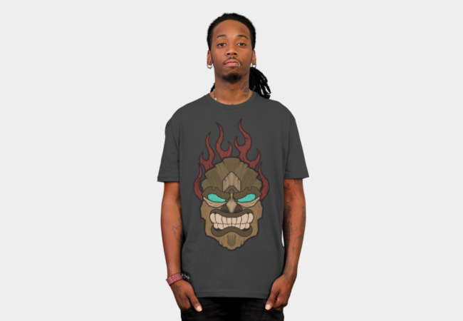 Flaming Tiki T-Shirt - Design By Humans