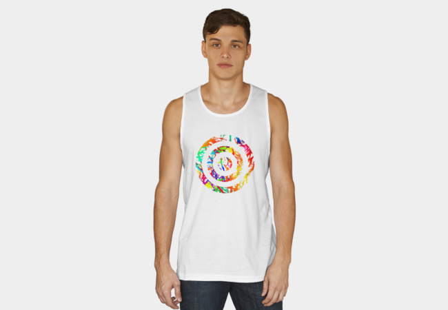 Painted Target - white Tank Top - Design By Humans