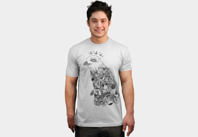 The Eagle King T-Shirt - Design By Humans