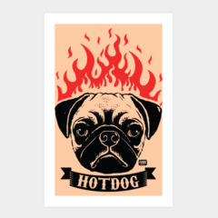 Pug on Fire - Hot Dog