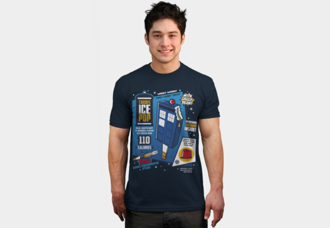 Tardis Ice Pop T-Shirt - Design By Humans