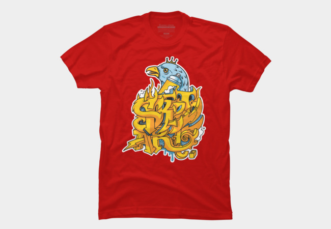 King Bird - Street Art Men's T-Shirt