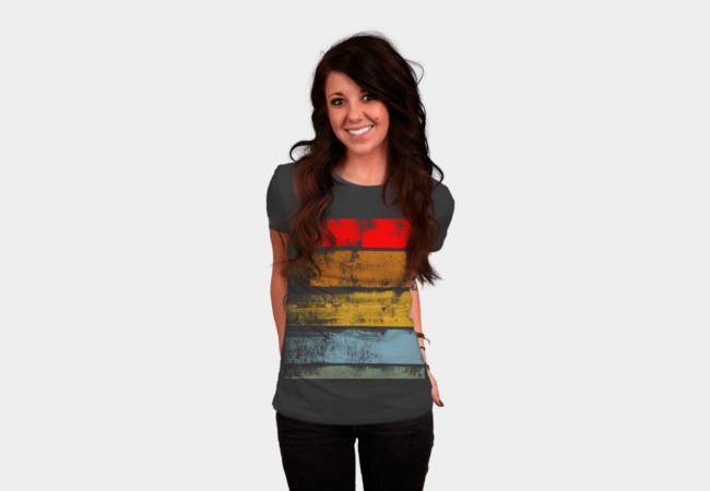 Retro Wood T-Shirt - Design By Humans