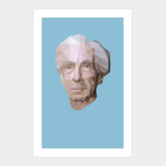 Bertrand Russell (Low Polygonal)
