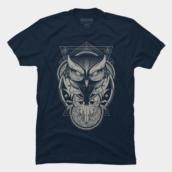 Alchemy owl t shirt by hydro74 design by humans T shirt with owl design